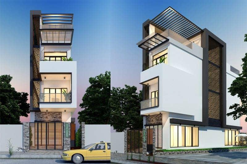 thiết kế mẫu nhà 3 tầng đẹp