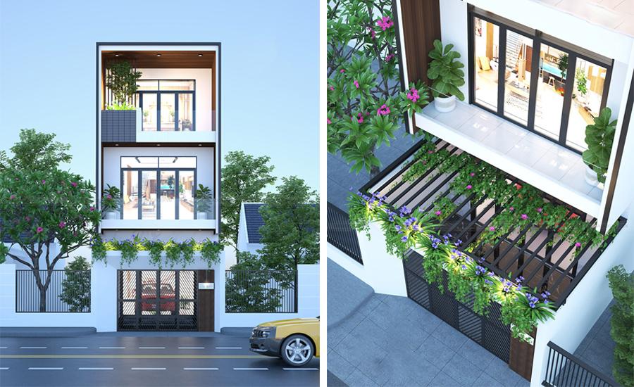 thiết kế mẫu nhà phố đẹp 1