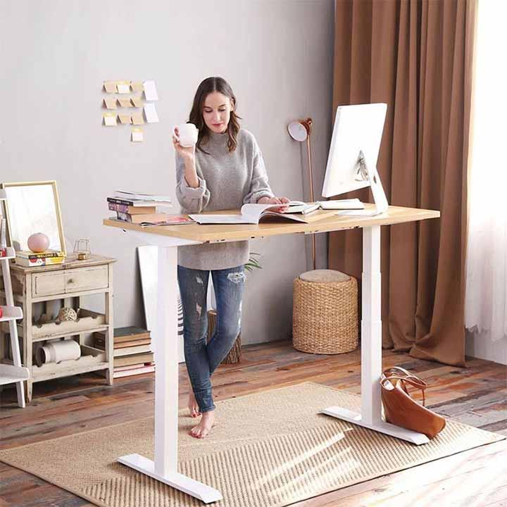 mẫu bàn làm việc thông minh đứng