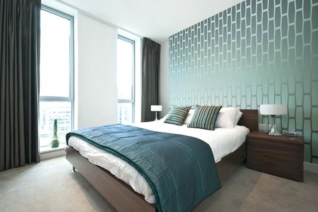 cách trang trí phòng ngủ bằng giấy dán tường