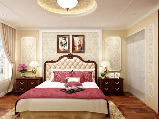 cách trang trí phòng ngủ theo phong cách tân cổ điển