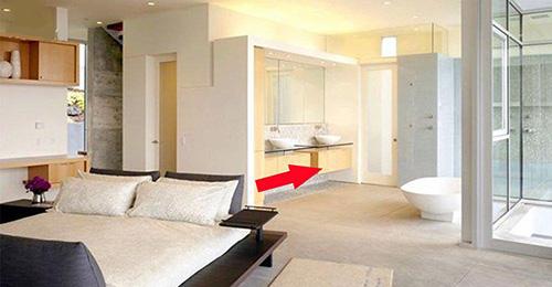 tránh đặt đầu giường hướng vào nhà vệ sinh