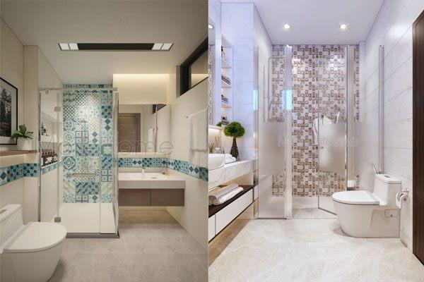 hoạ tiết trang trí đơn giản cho phòng tắm