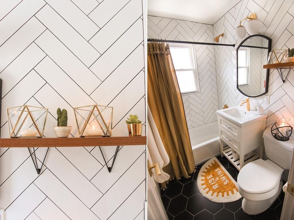 hoạ tiết trang trí đơn giản cho nhà tắm
