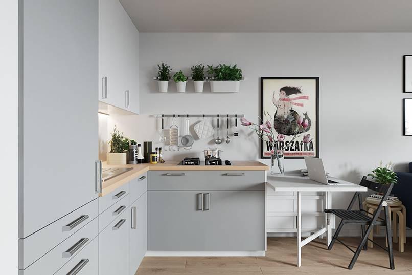 mẫu nhà bếp nhỏ đẹp đơn giản 3