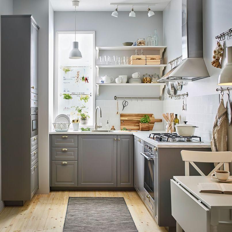 mẫu nhà bếp nhỏ chữ L