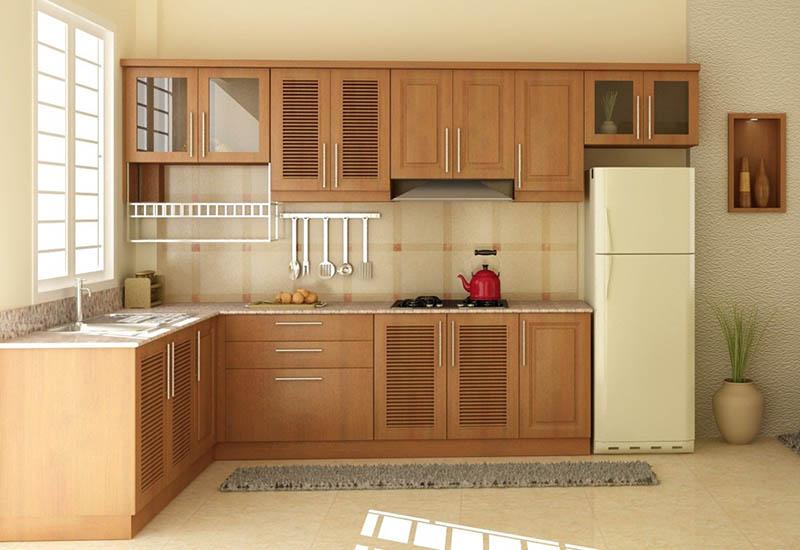mẫu nhà bếp nhỏ đẹp chữ L
