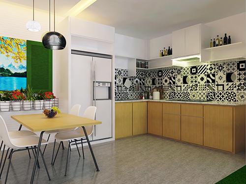 màu sơn cho nhà bếp nhỏ đẹp
