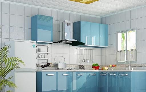 sự dụng vật liệu kính cho bếp nhỏ