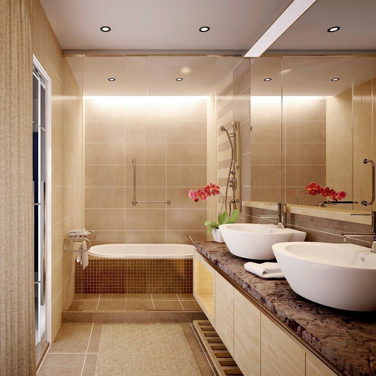 mẫu nhà tắm nhỏ đẹp có bồn tắm 2