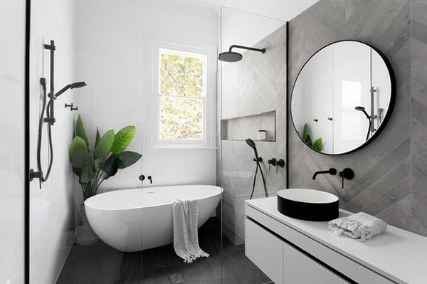 mẫu nhà tắm nhỏ đẹp có bồn tắm 7