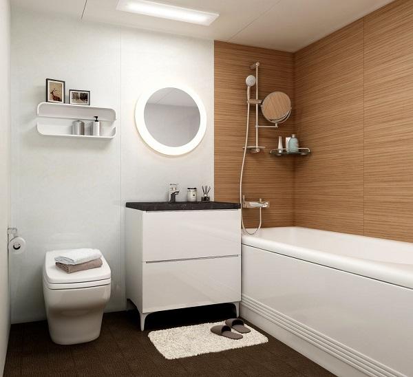 mẫu nhà tắm nhỏ đẹp có bồn tắm 3