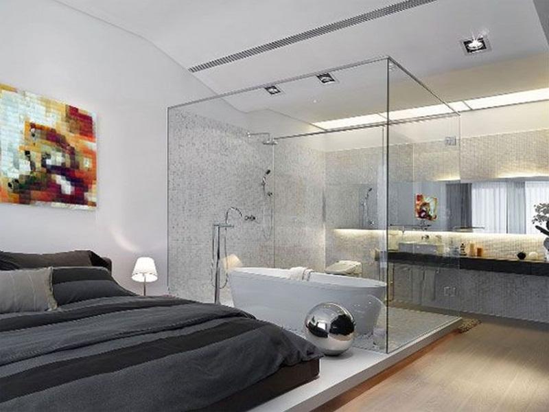 mẫu phòng tắm nhỏ đẹp trong phòng ngủ