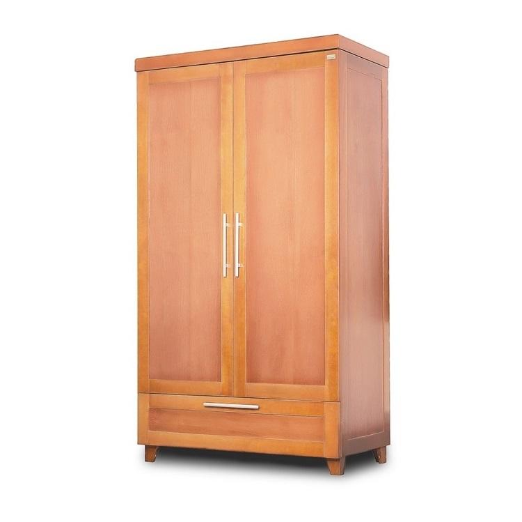 mẫu tủ quần áo đẹp chất liệu gỗ tự nhiên