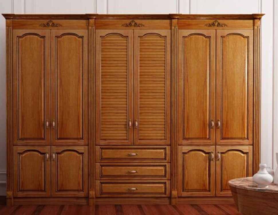 mẫu tủ quần áo đẹp gỗ tự nhiên