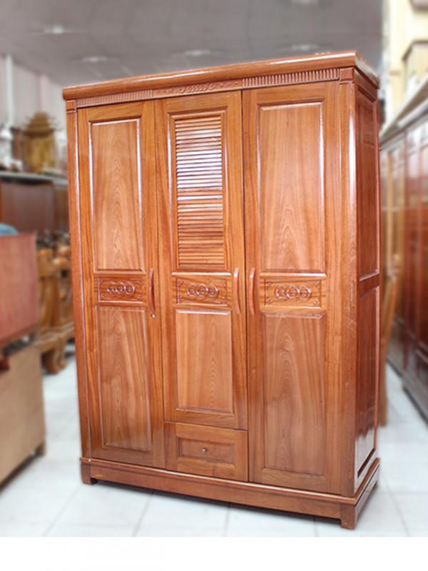 mẫu tủ quần áo đẹp bằng gỗ tự nhiên