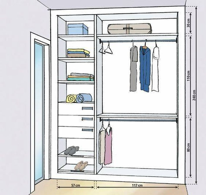 kích thước mẫu tủ quần áo đẹp