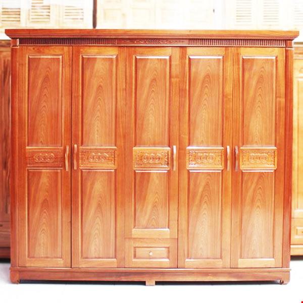 mẫu tủ quần áo đẹp gỗ tự nhiên 4 cánh