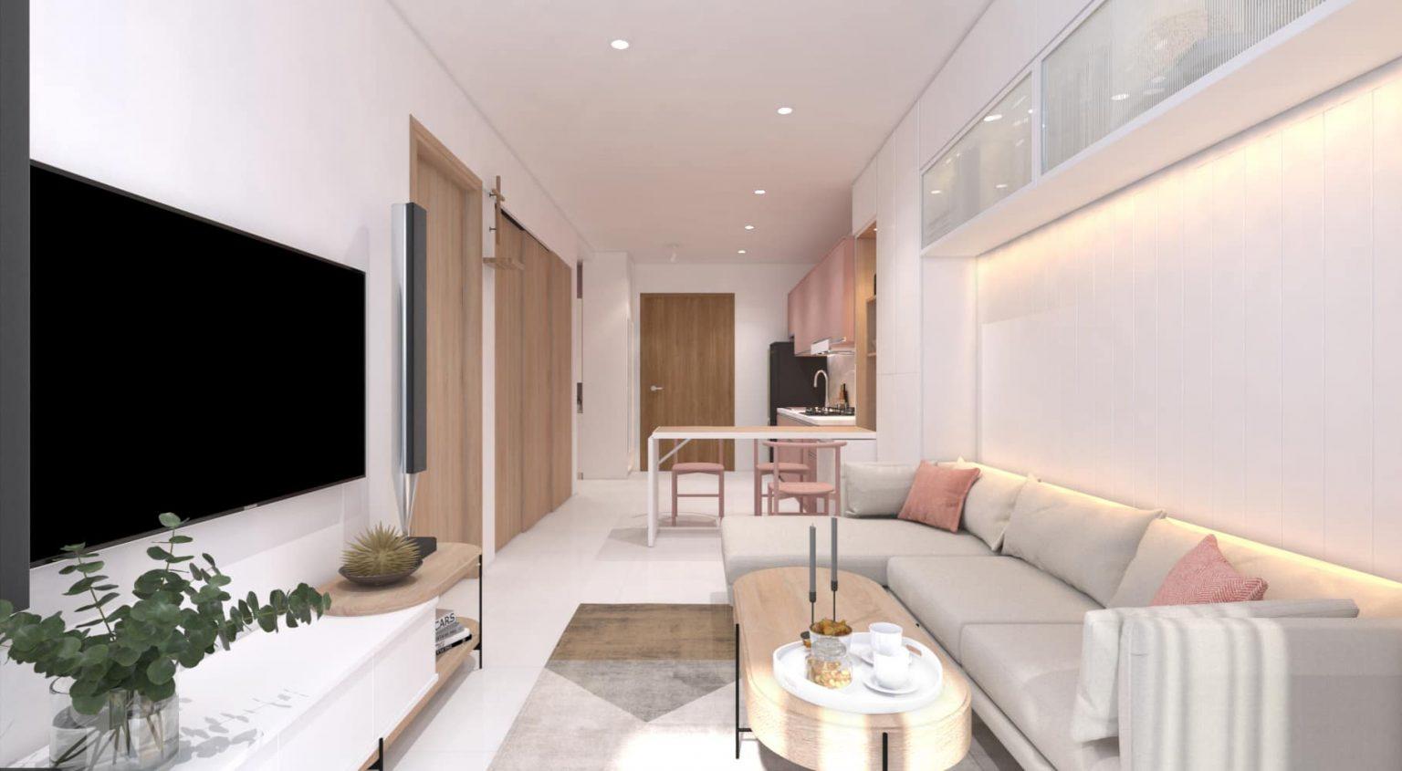 mẫu trần thạch cao phòng khách đẹp đơn giản
