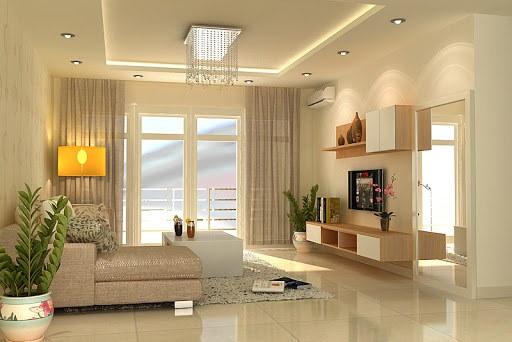 mẫu trần thạch cao đơn giản phòng khách