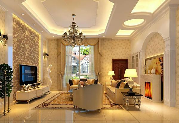 trần thạch cao phòng khách đẹp hiện đại