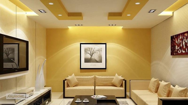 trần thạch cao phòng khách nhỏ đẹp