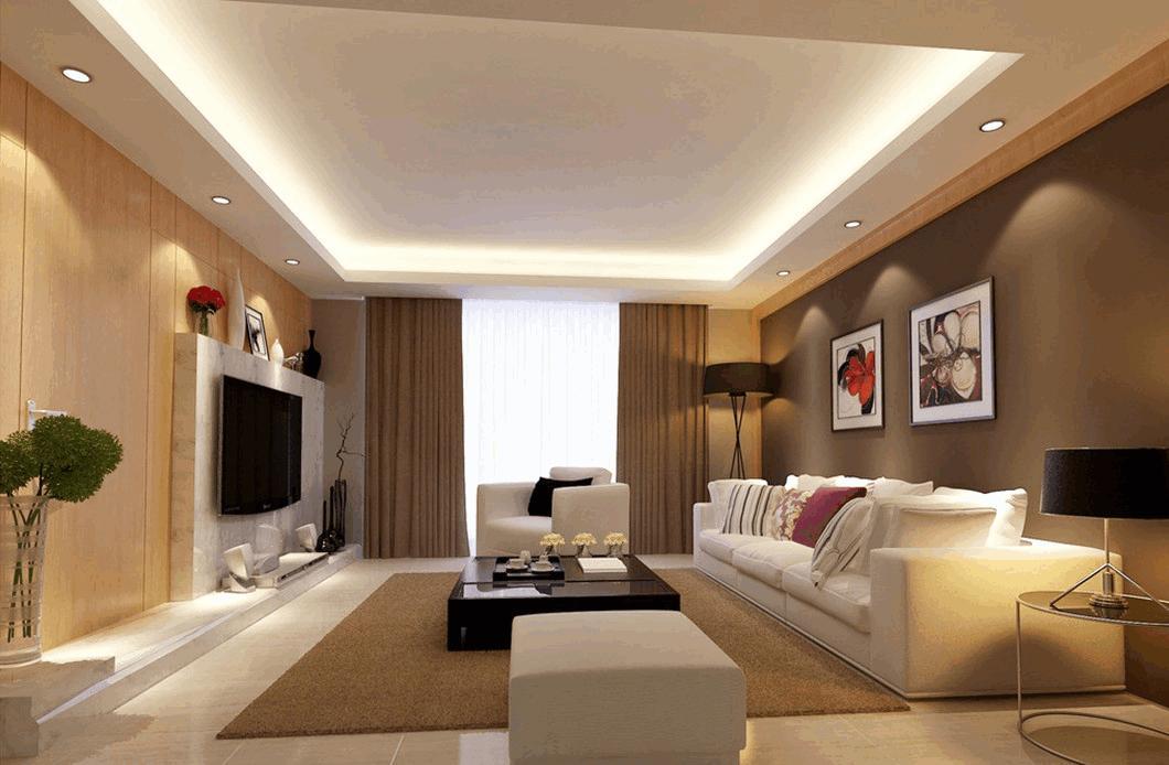 trần thạch cao phòng khách đẹp đơn giản
