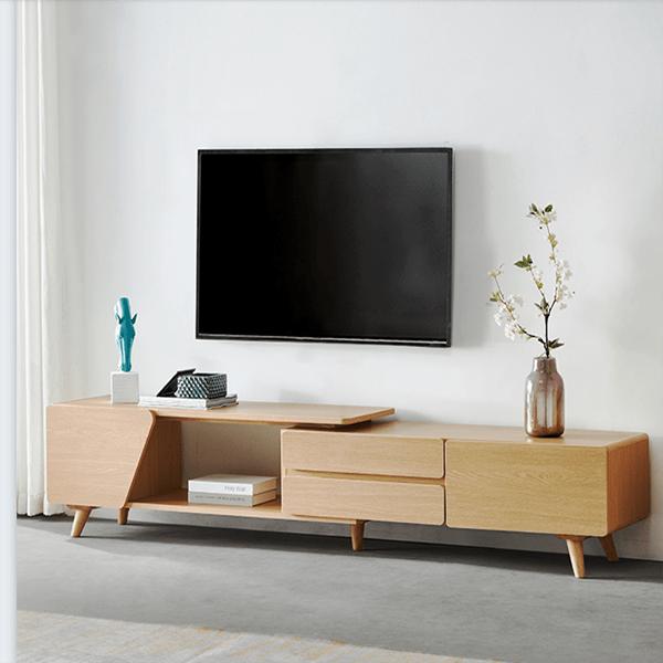 mẫu kệ tivi gỗ công nghiệp đơn giản
