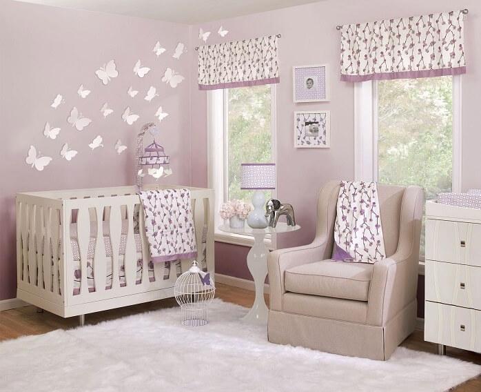 phòng ngủ cho bé gái sơ sinh đến 2 tuổi