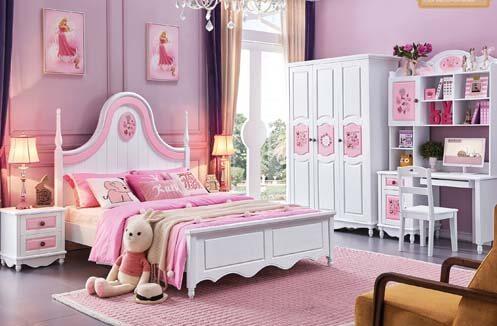 phong ngủ cho bé gái từ 2 đến 6 tuổi