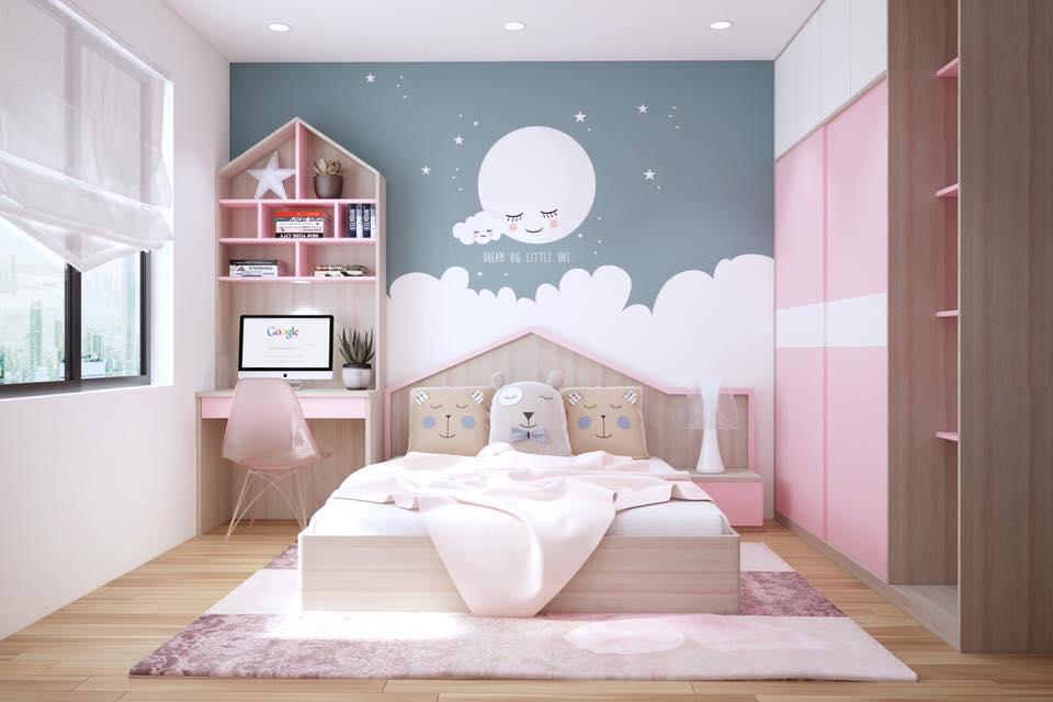 thiết kế phòng ngủ bé gái 6 đến 12 tuổi