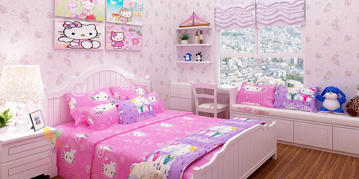 giường phòng ngủ bé gái