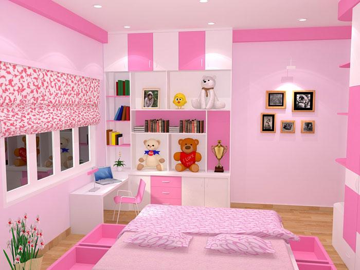 màu sắc phòng ngủ bé gái
