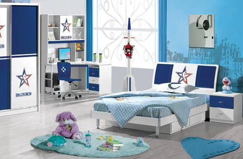 mẫu phòng ngủ màu xanh cho bé gái