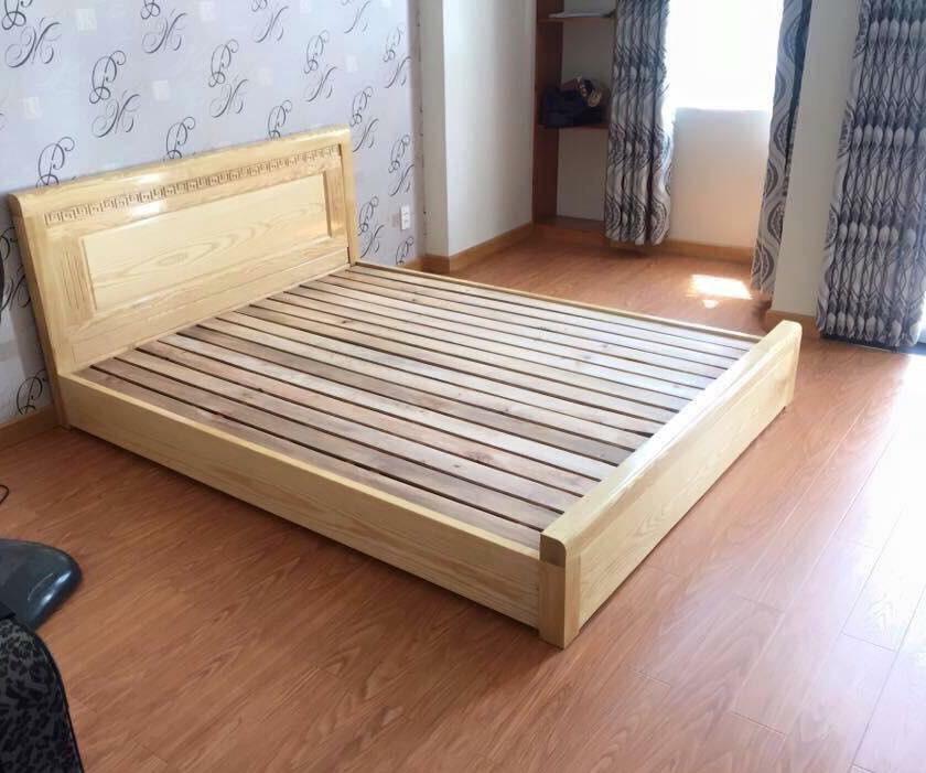 mẫu giường kiểu nhật gỗ tự nhiên đơn giản
