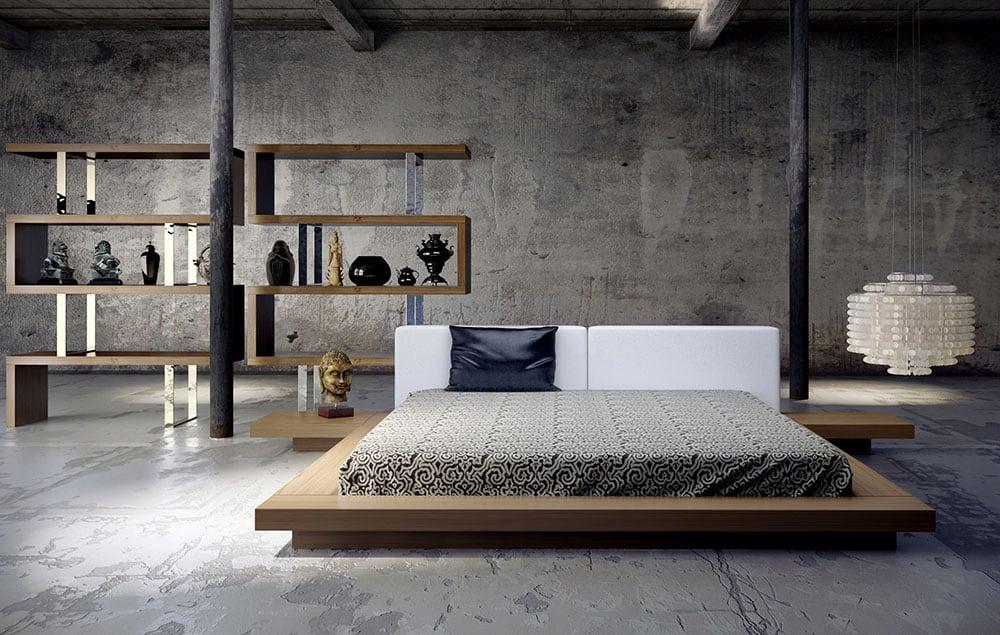 giường sang trọng phong cách nhật