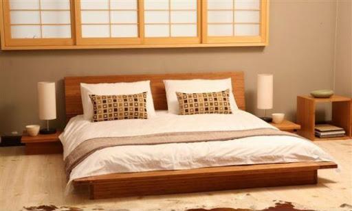 mẫu giường ngủ kiểu nhật sang trọng