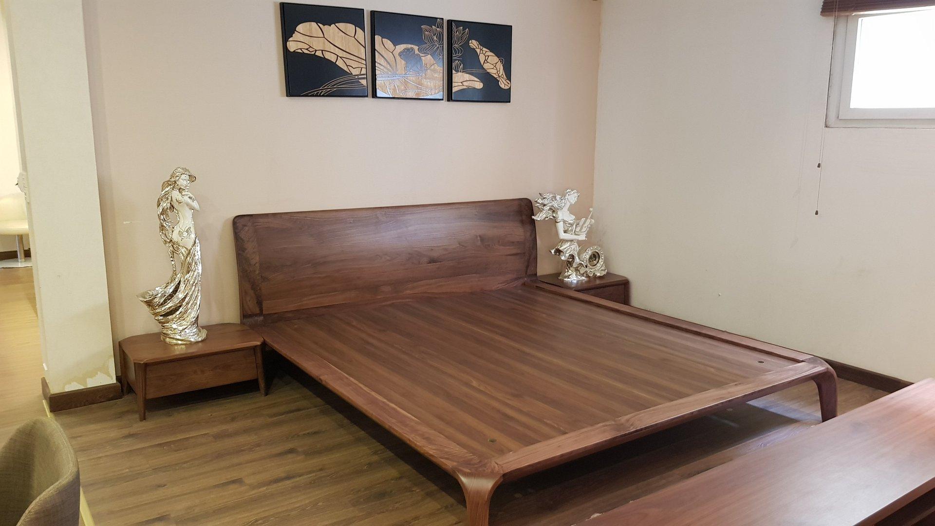 mẫu giường ngủ kiểu nhật hiện đại
