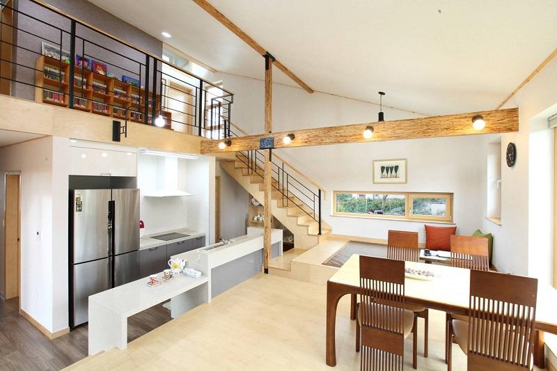 phòng ăn nội thất kiểu Hàn đẹp