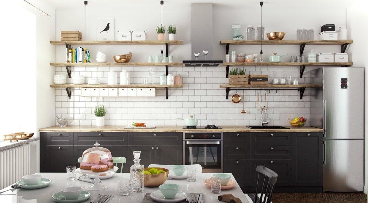 phong cách retro là gì mẫu phòng bếp