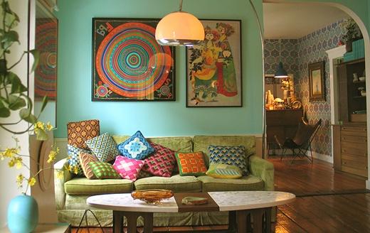 phong cách retro là gì phòng khách
