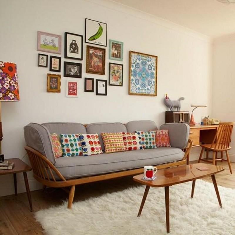 phong cách retro là gì mẫu phòng khách
