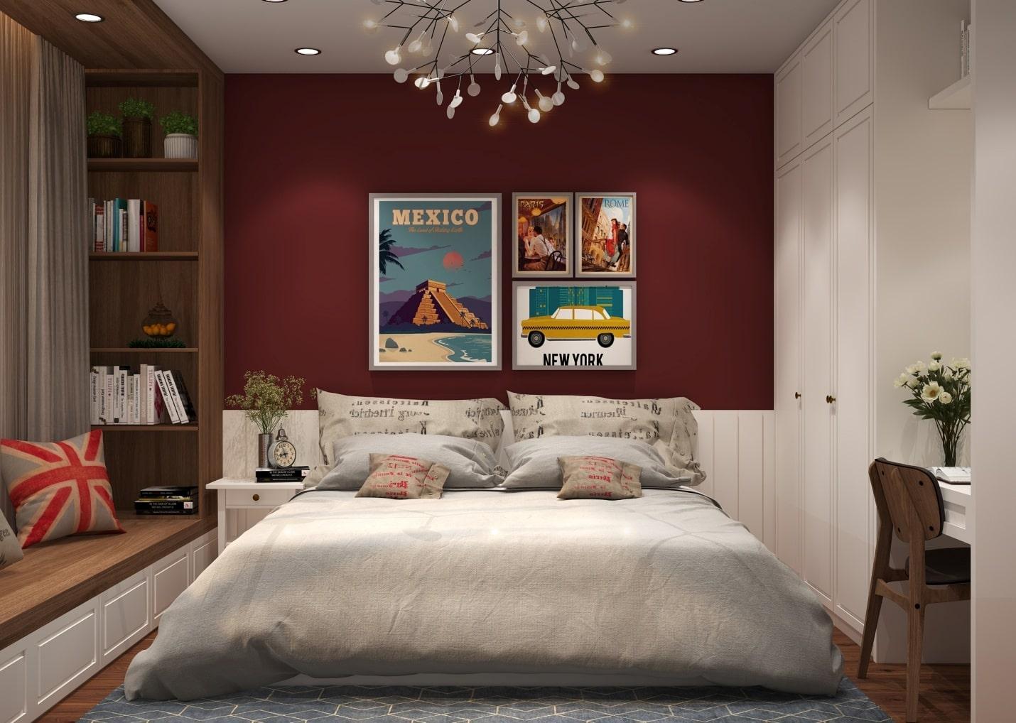 phong cách retro là gì phòng ngủ