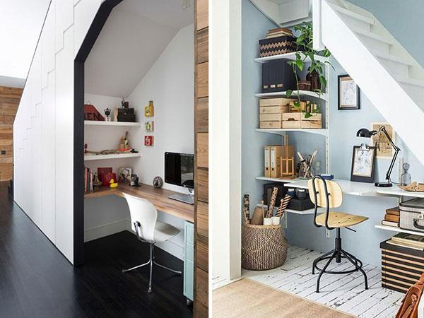 mẫu bàn làm việc cầu thang đẹp và hiện đại