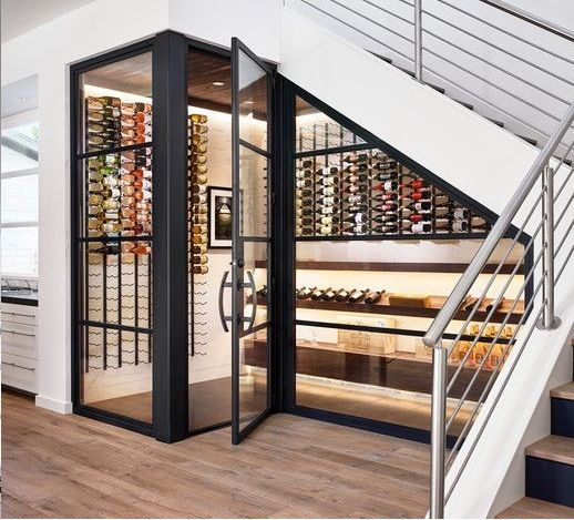 mẫu tủ rượu dưới cầu thang ấn tượng