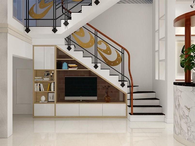 mẫu tủ tivi dưới cầu thang đẹp